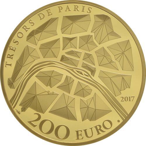 Rückseite:Frankreich : 200 Euro Freiheitsstatue  2017 PP