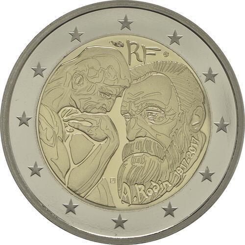 Rückseite :Frankreich : 2 Euro Rodin  2017 PP