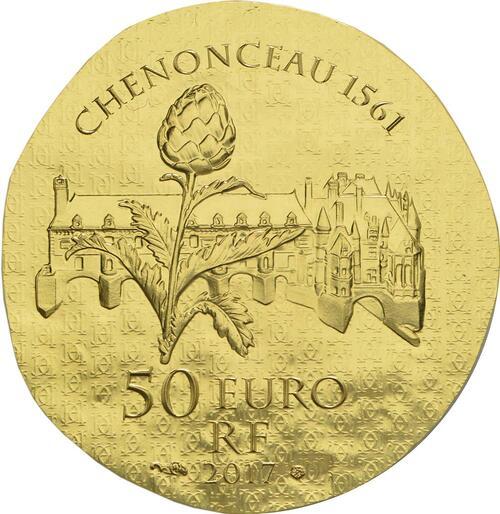 Rückseite :Frankreich : 50 Euro Katharina von Medici  2017 PP