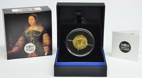 Lieferumfang :Frankreich : 50 Euro Katharina von Medici  2017 PP
