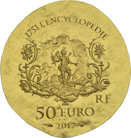 Rückseite :Frankreich : 50 Euro Marquise de Pompadour  2017 PP