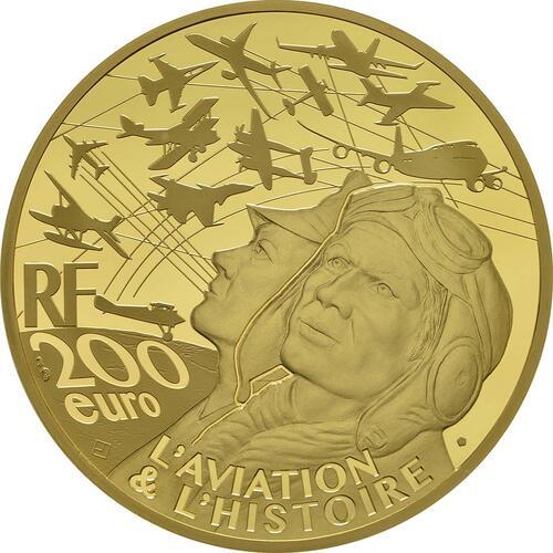 Rückseite :Frankreich : 200 Euro Spirit of Saint-Louis  2017 PP