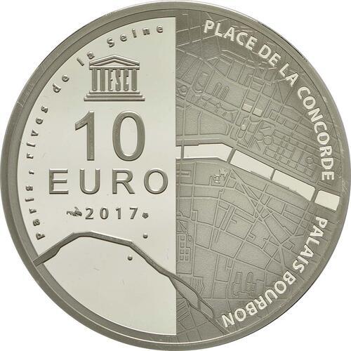 Rückseite :Frankreich : 10 Euro Ufer der Seine  2017 PP