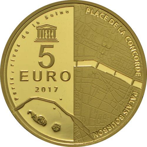 Rückseite :Frankreich : 5 Euro Ufer der Seine  2017 PP