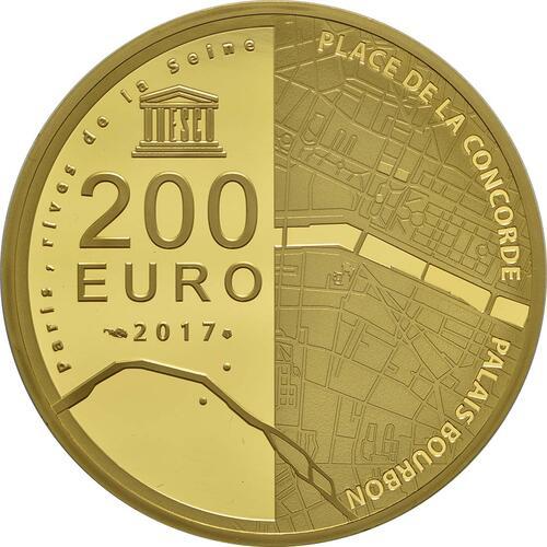 Rückseite :Frankreich : 200 Euro Ufer der Seine  2017 PP