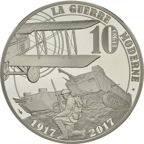 Rückseite:Frankreich : 10 Euro Erster Weltkrieg  2017 PP