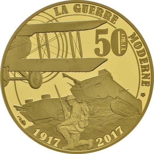 Rückseite :Frankreich : 50 Euro Erster Weltkrieg  2017 PP