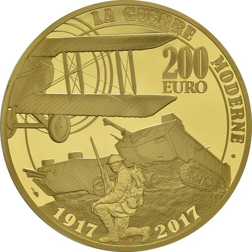 Rückseite :Frankreich : 200 Euro Erster Weltkrieg  2017 PP