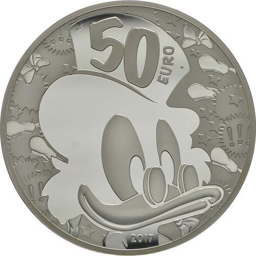 Rückseite :Frankreich : 50 Euro Dagobert Duck / Scrooge McDuck  2017 PP