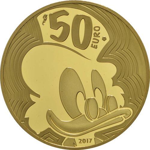 Rückseite:Frankreich : 50 Euro Dagobert Duck / Scrooge McDuck  2017 PP