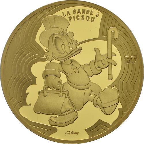 Vorderseite:Frankreich : 50 Euro Dagobert Duck / Scrooge McDuck  2017 PP