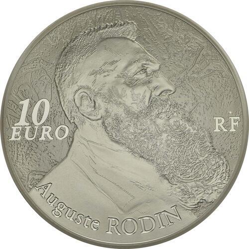 Rückseite :Frankreich : 10 Euro Auguste Rodin  2017 PP
