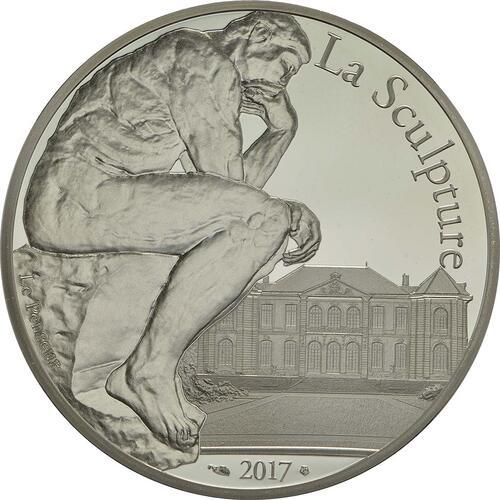 Vorderseite :Frankreich : 10 Euro Auguste Rodin  2017 PP