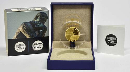 Lieferumfang :Frankreich : 50 Euro Auguste Rodin  2017 PP