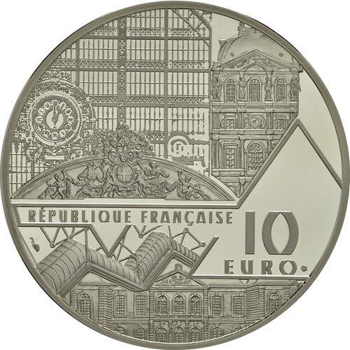 Rückseite :Frankreich : 10 Euro Frühstück im Grünen  2017 PP