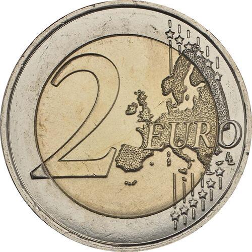 Vorderseite:Frankreich : 2 Euro Kampf gegen den Brustkrebs  2017 bfr