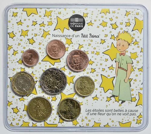 Lieferumfang :Frankreich : 3,88 Euro Mini KMS Baby Jungen  2017 Stgl.