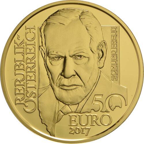 Rückseite :Österreich : 50 Euro Sigmund Freud  2017 PP