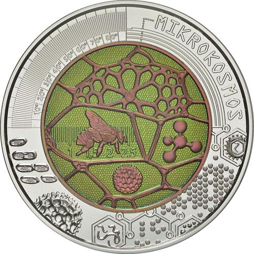 Rückseite:Österreich : 25 Euro Der Mikrokosmos  2017 Stgl.