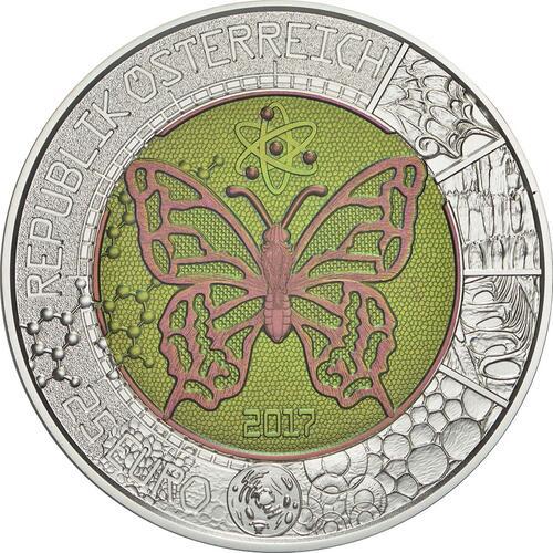 Vorderseite:Österreich : 25 Euro Der Mikrokosmos  2017 Stgl.