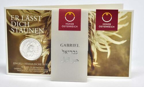 Lieferumfang :Österreich : 10 Euro Gabriel - der Verkündigungsengel-  2017 Stgl.