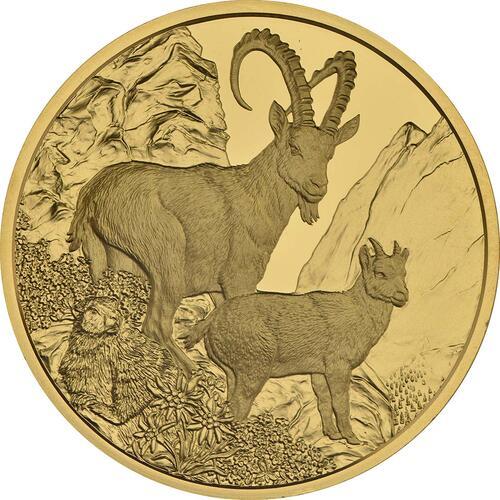 Vorderseite:Österreich : 100 Euro Steinbock  2017 PP