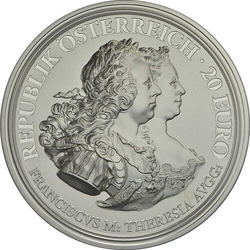 Vorderseite :Österreich : 20 Euro Gerechtigkeit und Härte  2017 PP