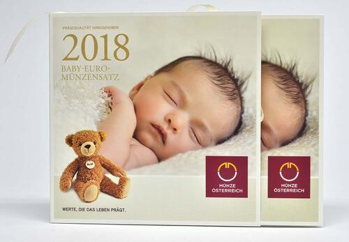 Lieferumfang :Österreich : 3,88 Euro KMS Österreich Baby  2018 Stgl.