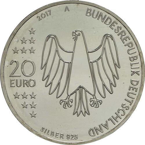 Rückseite :Deutschland : 20 Euro 500 Jahre Reformation  2017 bfr