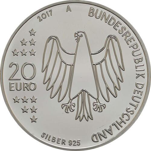 Rückseite :Deutschland : 20 Euro 500 Jahre Reformation  2017 PP