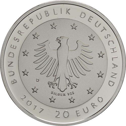 Rückseite :Deutschland : 20 Euro 50 Jahre Deutsche Sporthilfe  2017 PP