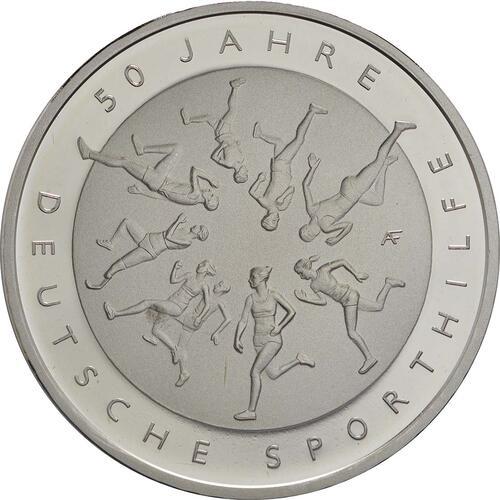 Vorderseite :Deutschland : 20 Euro 50 Jahre Deutsche Sporthilfe  2017 PP
