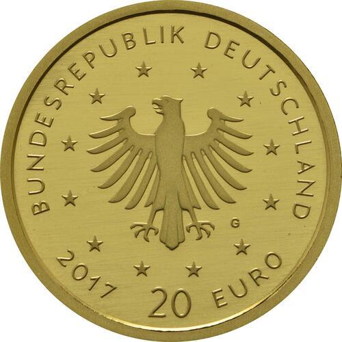 Rückseite:Deutschland : 20 Euro Pirol  2017 Stgl.