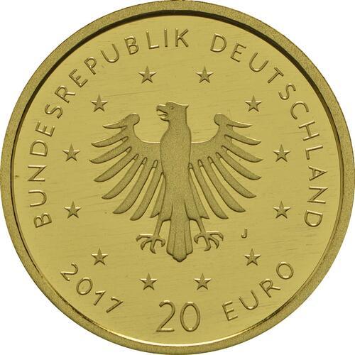 Rückseite :Deutschland : 20 Euro Pirol  2017 Stgl.