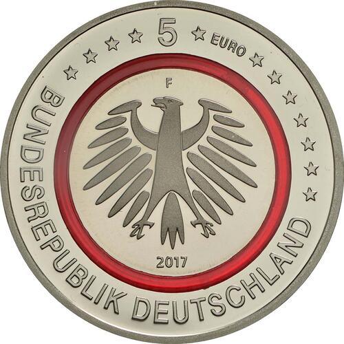 Rückseite:Deutschland : 5 Euro Tropische Zone  2017 PP