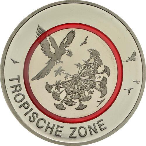 Vorderseite:Deutschland : 5 Euro Tropische Zone  2017 PP