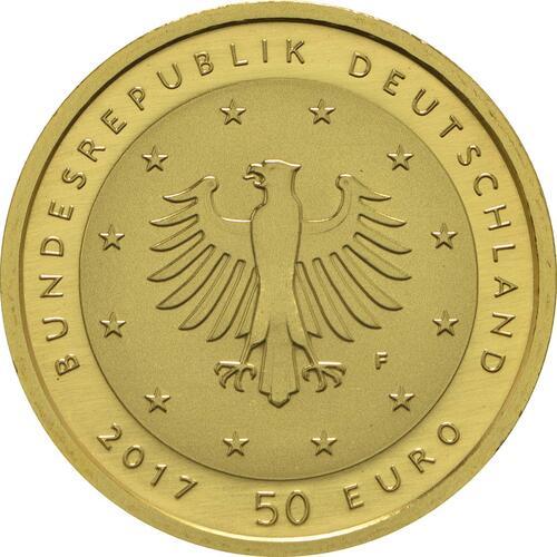 Rückseite :Deutschland : 50 Euro Lutherrose  2017 Stgl.