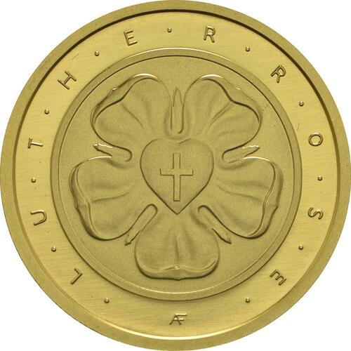 Vorderseite :Deutschland : 50 Euro Lutherrose  2017 Stgl.