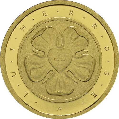 Vorderseite :Deutschland : 50 Euro Lutherrose Buchstabe unserer Wahl  2017 Stgl.