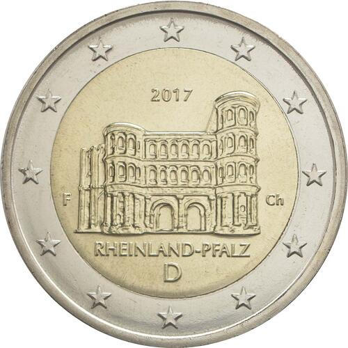 Rückseite:Deutschland : 2 Euro Rheinland-Pfalz - Porta Nigra  2017 bfr