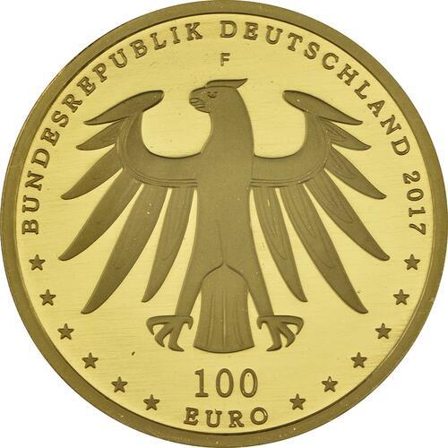 Rückseite :Deutschland : 100 Euro Luthergedenkstätten Eisleben und Wittenberg  2017 Stgl.