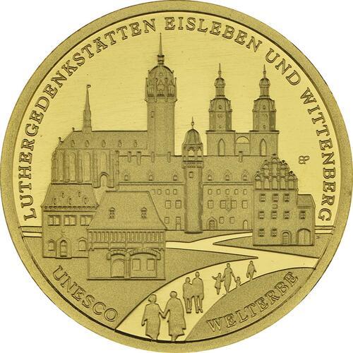 Vorderseite:Deutschland : 100 Euro Luthergedenkstätten Eisleben und Wittenberg Buchstabe unserer Wahl  2017 Stgl.