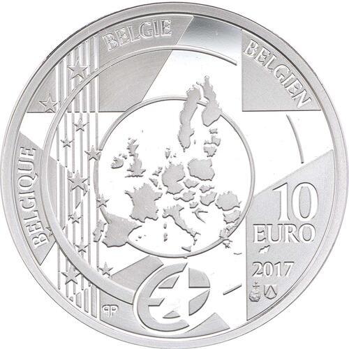 Rückseite:Belgien : 10 Euro Hauptbahnhof von Antwerpen  2017 PP