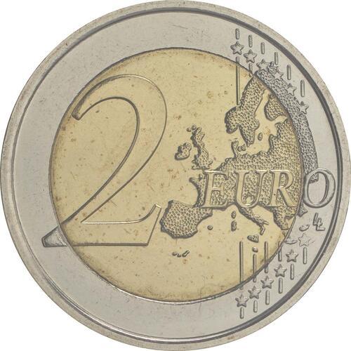 Vorderseite:Belgien : 2 Euro 200 Jahre Universität zu Lüttich  2017 Stgl.