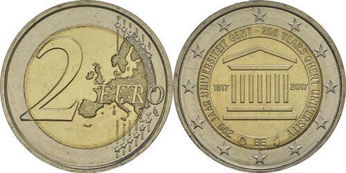 Lieferumfang:Belgien : 2 Euro 200 Jahre Universität zu Gent  2017 bfr