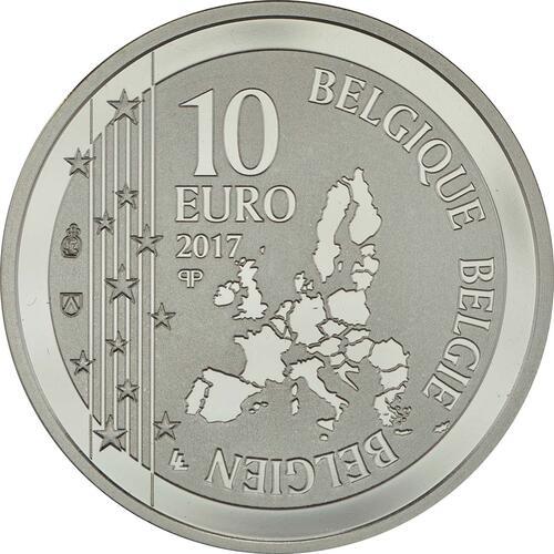 Rückseite:Belgien : 10 Euro 150 Jahre Publikation über Till Eulenspiegel  2017 PP