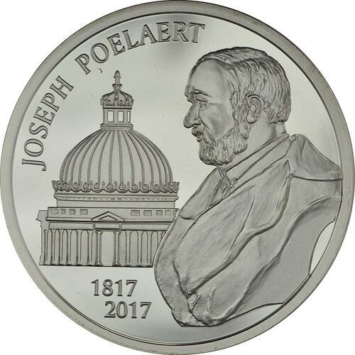 Vorderseite :Belgien : 20 Euro 200. Geburtstag von Joseph Poelaert  2017 PP