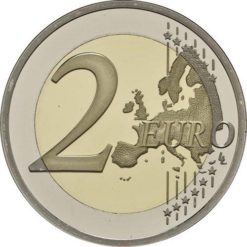 Vorderseite :Niederlande : 5,88 Euro KMS Niederlande mit 2 Euro coloriert  2017 PP