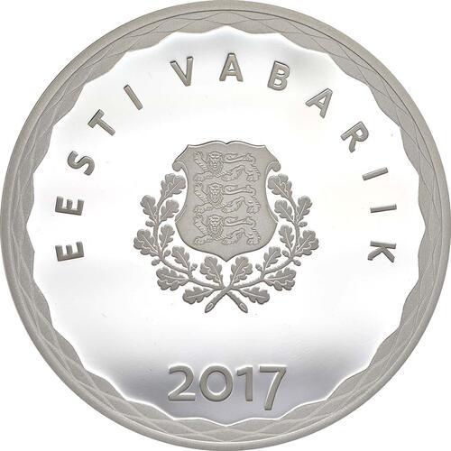 Rückseite:Estland : 8 Euro Hansestadt Tallinn  2017 PP
