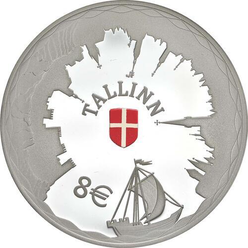 Vorderseite:Estland : 8 Euro Hansestadt Tallinn  2017 PP